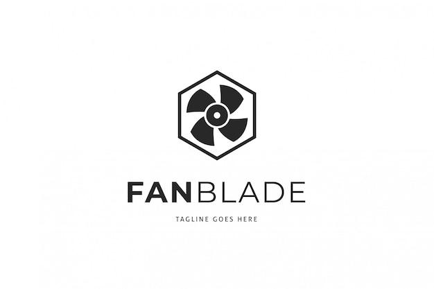 Fan blade logo sjabloon