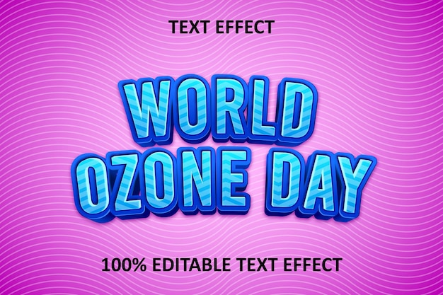 Fancy bewerkbaar teksteffect blauw roze Premium Vector