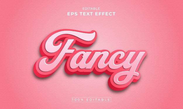 Fancy bewerkbare 3d-teksteffect premium vector
