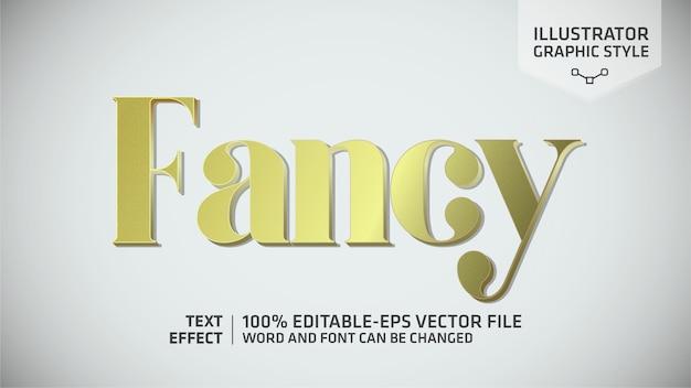 Fancy gold teksteffect grafische stijl