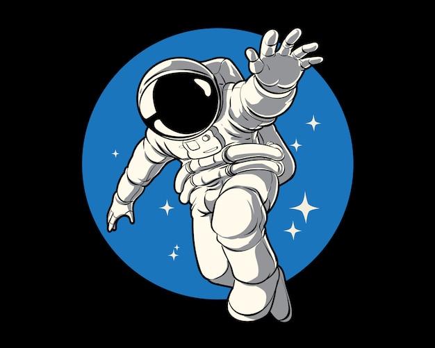 Fantasie astronaut illustratie