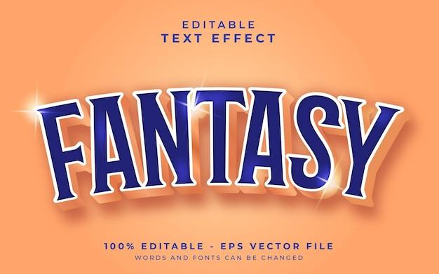 Fantasie bewerkbaar teksteffect