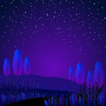 Fantasie blauw tuinlandschap