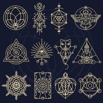 Fantasie en magische set geometrische symbolen