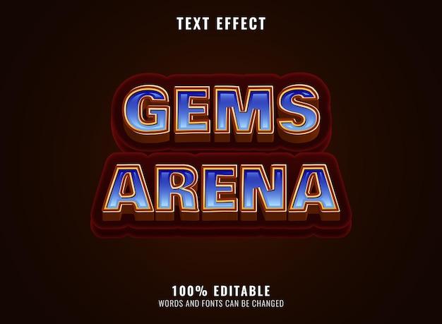 Fantasie gouden diamanten edelstenen arena spel logo titel teksteffect