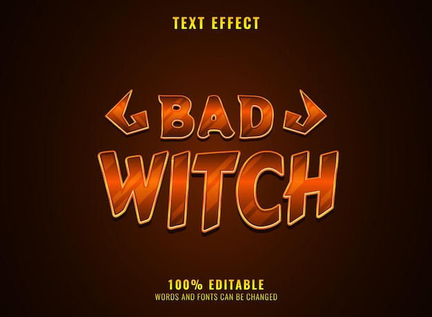 Fantasie gouden luxe slecht met rpg-game logo titel teksteffect