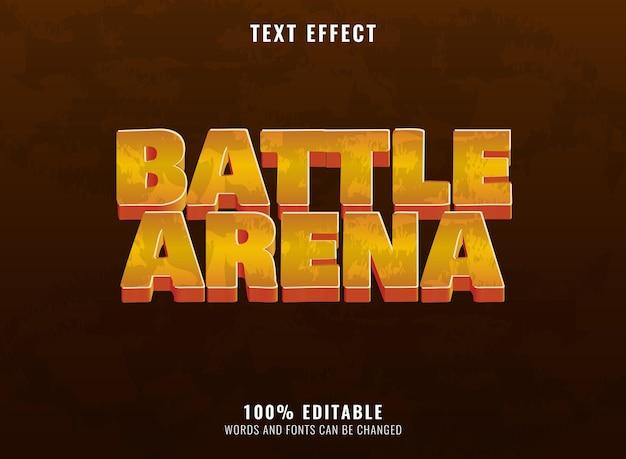 Fantasie gouden strijdarena rpg game logo teksteffect