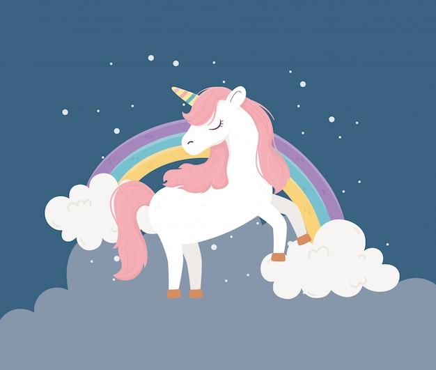 Fantasie magische droom schattige fantasie magische droom schattige cartoon illustratie