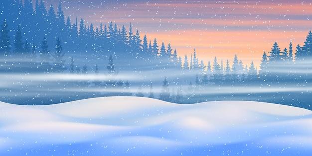 Fantasie rond het thema van het winterlandschap.