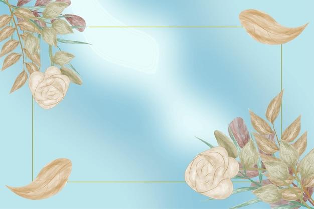 Fantasie wazige achtergrond met aquarel