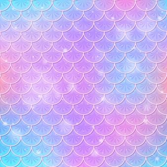 Fantasie zeemeermin schalen naadloos patroon Premium Vector