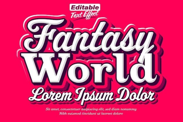 Fantasiewereld filmposter teksteffect