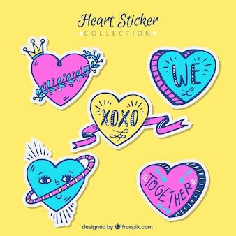 Fantastisch pak van het hart stickers