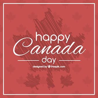 Fantastische achtergrond met abstracte bladeren voor canada dag