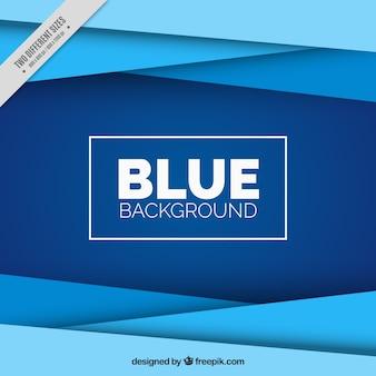 Fantastische achtergrond met geometrische vormen in blauwe tinten