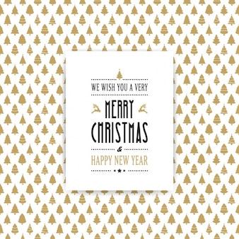 Fantastische achtergrond van gouden kerstbomen