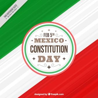 Fantastische achtergrond voor mexico dag van de grondwet