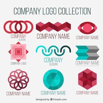 Fantastische bedrijfslogo's met geometrische vormen