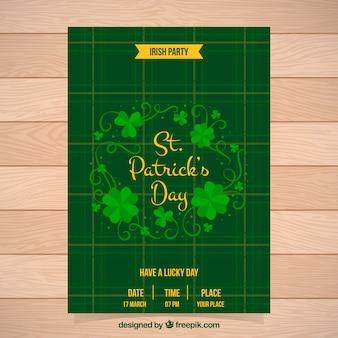 Fantastische brochure sjabloon met gele details voor st patrick dag