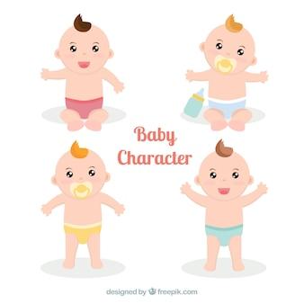 Fantastische collectie van baby's met luiers
