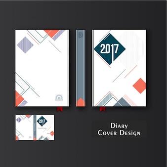 Fantastische dagboek deksel met geometrische vormen