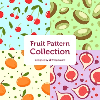 Fantastische fruitpatroonverzameling