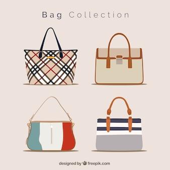 Fantastische inzameling van elegante handtassen