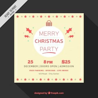 Fantastische kerst brochure in minimalistische stijl