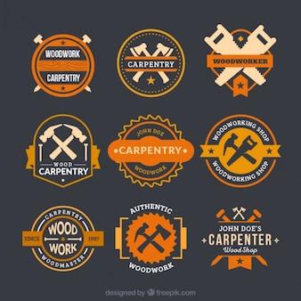 Fantastische logo's voor timmerwerk