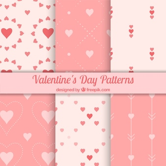 Fantastische patronen in roze tinten klaar voor valentijnsdag