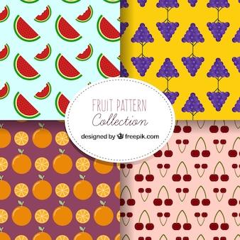 Fantastische patronen met verscheidenheid van vruchten