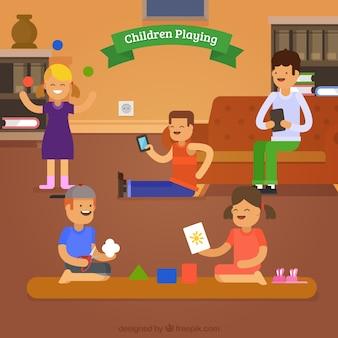 Fantastische scène van spelende kinderen