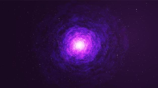Fantastische ultra violet melkweg op ruimte achtergrond, heelal en galaxy conceptontwerp vector.
