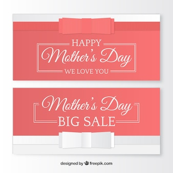 Fantastische verkoop banners voor moederdag
