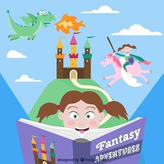 Fantasy avontuur boek