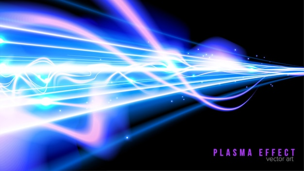 Fantasy plasma beam in vector
