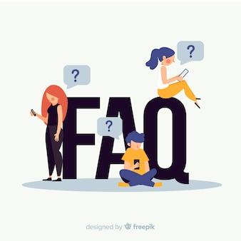 Faq-concept