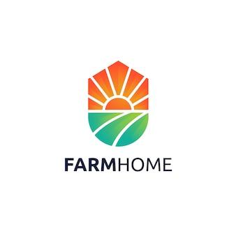 Farm home logo ontwerp