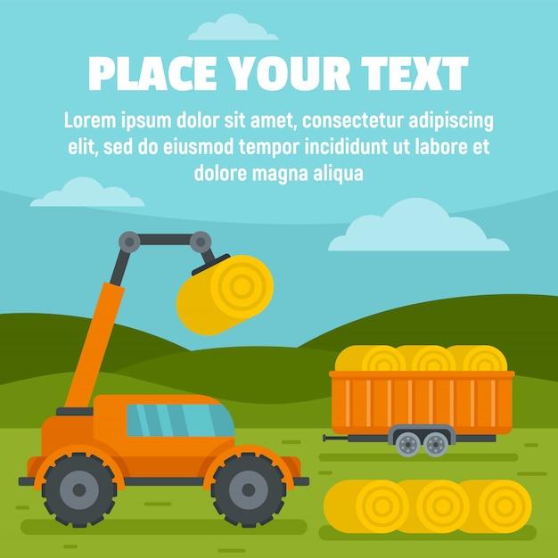 Farm lift machine template, vlakke stijl