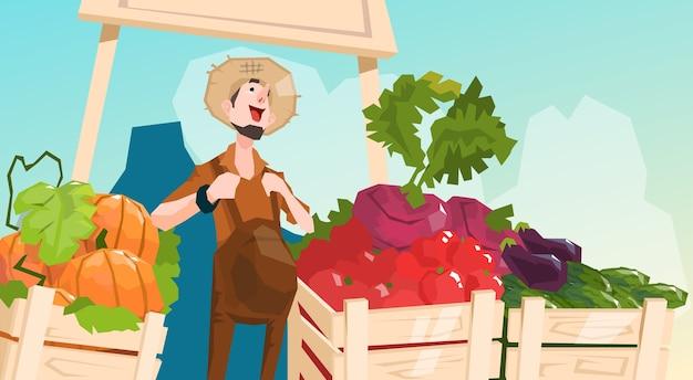 Farm market organic eco fruits groentenwinkel