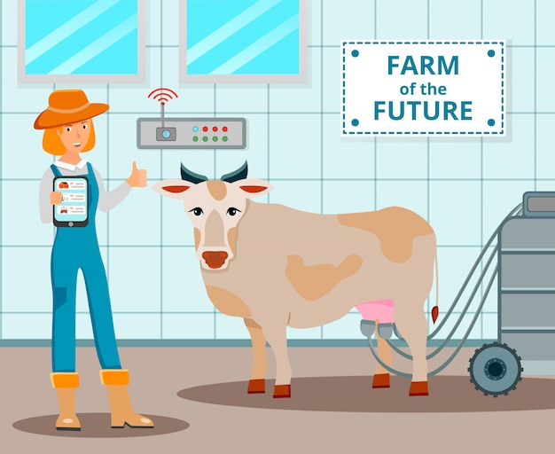 Farm of future illustratie