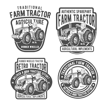 Farm tractor badges