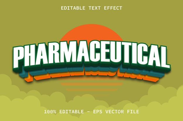 Farmaceutisch met bewerkbaar teksteffect in moderne stijl