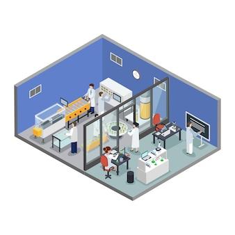 Farmaceutisch onderzoek productie isometrische samenstelling