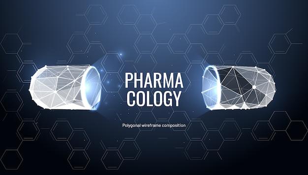 Farmacologie achtergrond met pil
