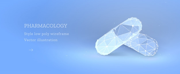 Farmacologie banner met pil