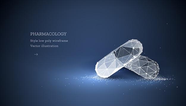 Farmacologie banner met pillen