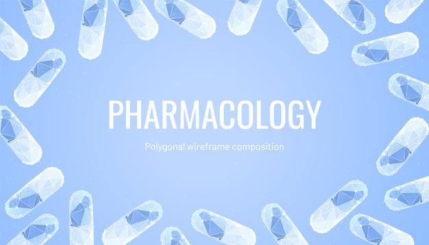 Farmacologieachtergrond met pillen