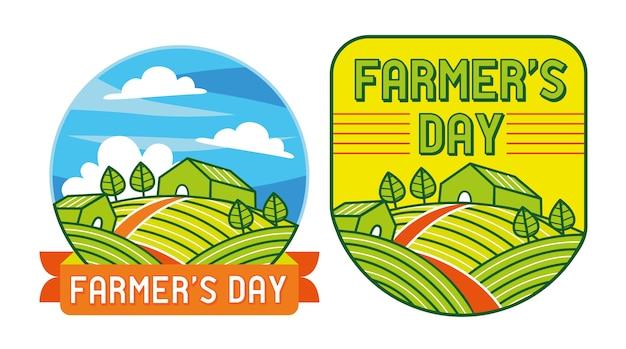 Farmer's day illustratie