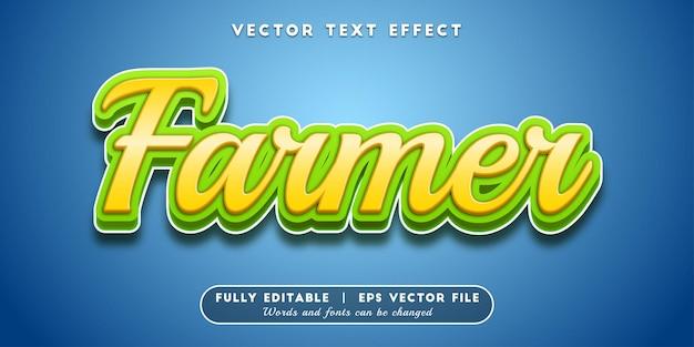 Farmer-teksteffect, bewerkbare tekststijl